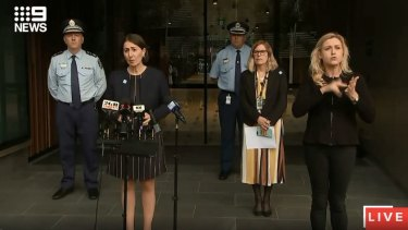 Premier Gladys Berejiklian, NSW Chief Health Officer Dr Kerry Chant and NSW Police Commissioner Mick Fuller are providing an update on COVID-19