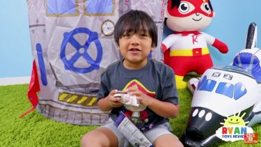Ryan, 7, earned $22 million last year reviewing toys on his YouTube channel and from US retailers.