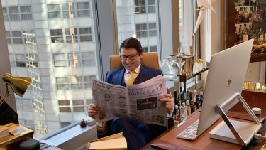 Michael Kodari pictured in his Chifley Tower office.