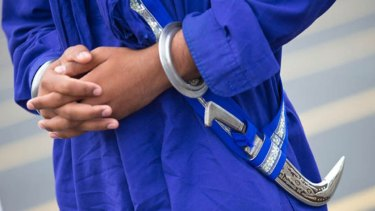 Baptised Sikhs are required to wear a ceremonial dagger, symbolising their duty to protect the innocent