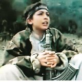 A photo believed to be of a young Hamza bin Laden .