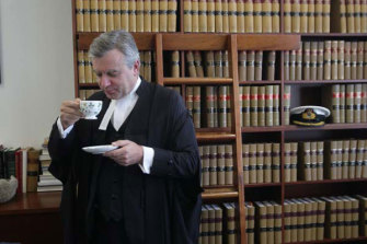 Justice Michael Slattery in his chambers.