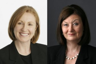 Adele Ferguson (right) and Kate McClymont are among the Herald and The Age journalists who have been named as finalists in the Kennedy Awards.