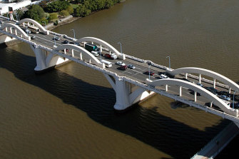 """The RACQ says expectations of the William Jolly Bridge taking the brunt of additional traffic had played out, causing """"extra delays"""" for motorists crossing the river and in the surrounding streets."""