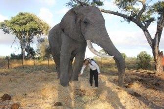 Elly Warren on her travels in Africa.