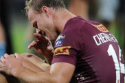 BRISBANE, AUSTRALIA - MAY 28: Daly Cherry-Evans of the Maroons looks dejected during game one of the State of Origin series between the Queensland Maroons and the New South Wales Blues at Suncorp Stadium on May 28, 2014 in Brisbane, Australia.  (Photo by Matt Roberts/Getty Images)