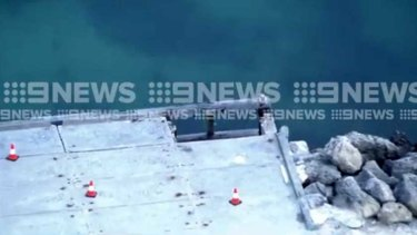 Three people have been injured after part of Army Jetty collapsed.