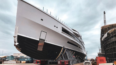 James Packer's private cruise ship is due to launch next June.