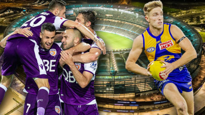 Cross-code double-header sees Optus Stadium transform in just 48 hours