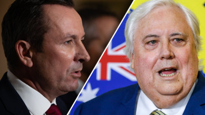 'A menace to Western Australia': Premier plays down Palmer's calls for resignation