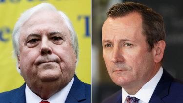 Clive Palmer has launched defamation action against WA Premier Mark McGowan.