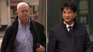 Forensic investigator Mark Reynolds and former barrister Lloyd Rayney.