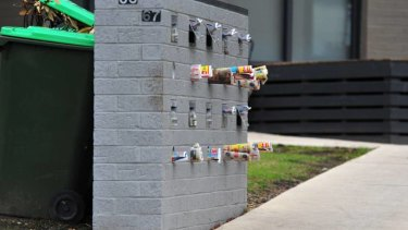 Uncollected mail outside the housing complex in Traralgon where the man's body was found.
