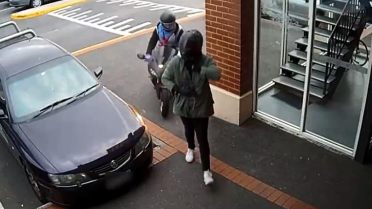 CCTV vision regarding Sunshine jewellery store armed robbery on 13th June 2018.
