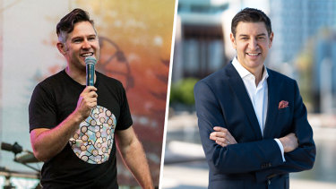 City of Fremantle Mayor Brad Pettitt and recently elected City of Perth Lord Mayor and WA media personality Basil Zempilas. Picture: Supplied
