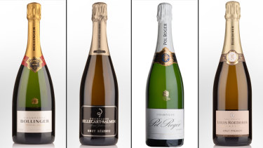 Our top four entry-level Champagnes: Bollinger, Billecart-Salmon, Pol Roger and Louis Roederer.