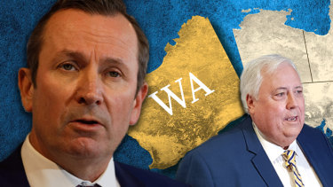 WA Premier Mark McGowan's state border closure is being challenged by Clive Palmer.