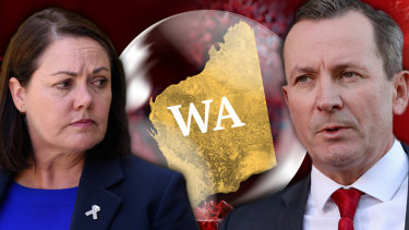 WA Liberal leader Liza Harvey and Premier Mark McGowan were at loggerheads over WA's 'hard borders', but Ms Harvey has reversed her position.