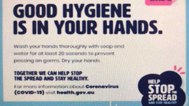 Australian Government coronavirus advertising campaign.