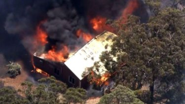 Homes have been lost in the blaze in the Perth Hills.