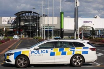 Shoppers were evacuated from the shopping mall by police.