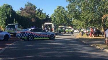 Eucalyptus Boulevard shortly after the crash.