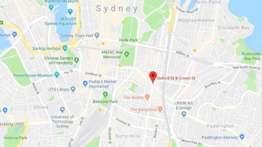 The incident happened on Oxford Street between Flinders Street and Crown Street.