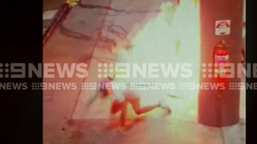 A man has been charged after allegedly setting petrol alight at an inner-city petrol station.