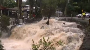 Tamborine Mountain was flooded with Curtis Falls Cafe copping some water damage.