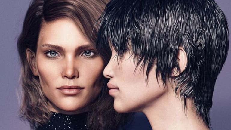 Margo and Zhi. CGI models are now being used by leading fashion houses such as Balmain.