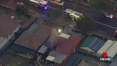 A man is in a critical condition after suffering burns to 40 per cent of his body in a Chester Hill house fire.