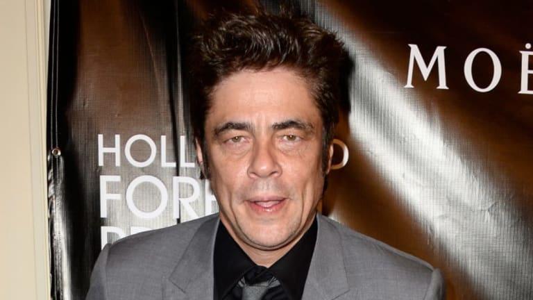 Benicio del Toro delivered one of the stranger moments in the awards.