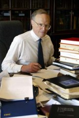 Justice Dyson Heydon in his Sydney chambers in 2002.