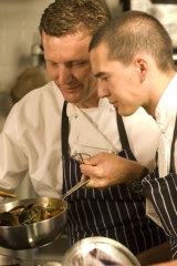 Chef Russell Blaikie with Must Margaret River's head chef Chris Cheong.