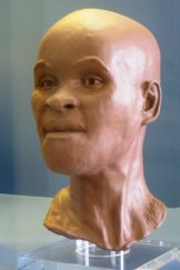 Luzia's reconstructed headwas made in Britain.