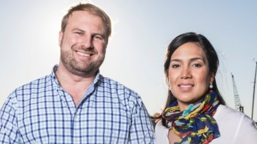 MadeComfy co-founders Quirin Schwaighofer and Sabrina Bethunin. The company has formed a strategic partnership with Airbnb.
