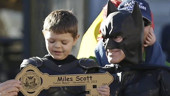 Batkid once 'saved' San Fran but now he's had a bigger win: he's cancer free