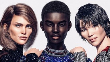 CGI models (from left) Margo, @shudu.gram and Zhi. CGI models are now being used by leading fashion houses such as Balmain.