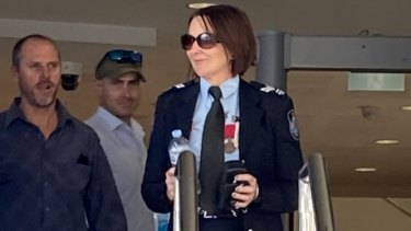 Senior ConstableCatherineNielsen leaves the coronial inquest at Toowoomba Magistrates Court this week.