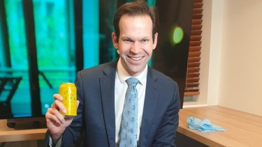 Nationals senator and former resources minister Matt Canavan cracked open a can of Colonial on air.