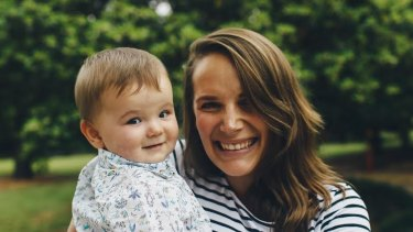 Polly Dunning with baby Alfred.