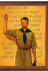 A Norman Rockwell painting from his Boy Scouts of America series.