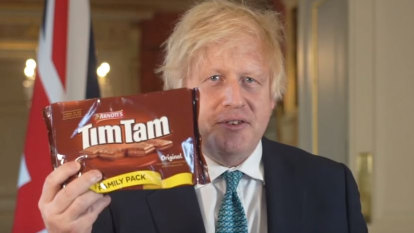Johnson invokes Tim Tams as UK growth outlook appears less than sweet