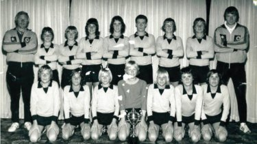The WA State U13 team in 1974. Most of the boys would be chosen to be ball boys in the Manchester United clash against the WA state team the following year.