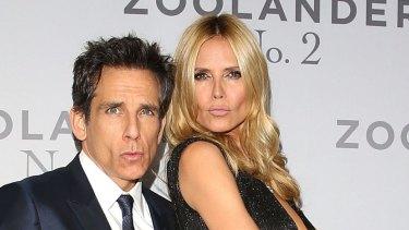 Ben Stiller and Heidi Klum mock the Insta-pout.