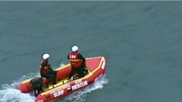 Emergency services searching on Sunday.