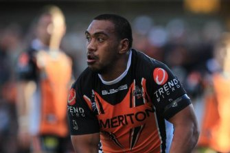 Masada Iosefa in action for the Tigers.