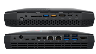 This NUC is covered in ports front and back.