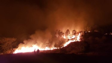 Fires have been raging for days in the Gold Coast hinterland.