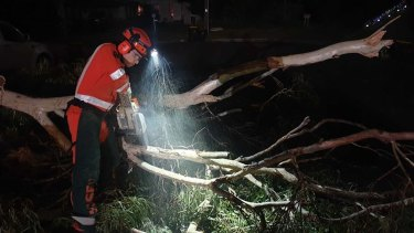 The clean-up continues after Tuesday's storm for the Hornsby unit volunteers.